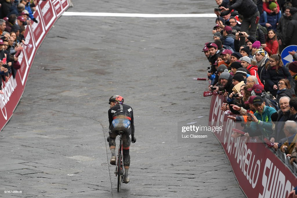 Arrival / Stefan Kung of Switzerland / Fans / Public / Piazza Del Campo / Eroica / Siena - Siena (184km) on March 3, 2018 in Siena, Italy.
