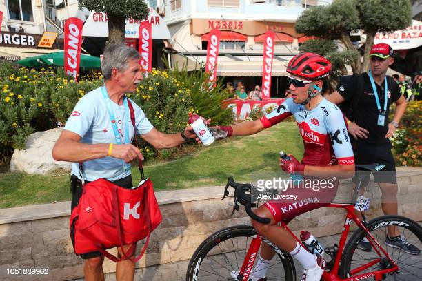 Arrival / Steff Cras of Belgium and Team Katusha-Alpecin / Soigneur / during the 54th Presidential Cycling Tour Of Turkey, Stage 3 a 132,7km stage...