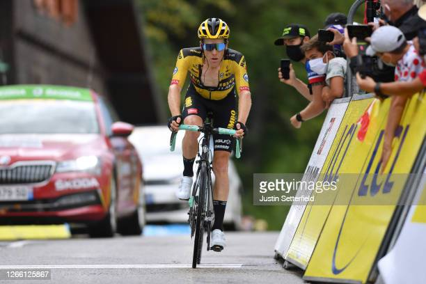 Arrival / Steven Kruijswijk of The Netherlands and Team Jumbo - Visma / during the 72nd Criterium du Dauphine 2020, Stage 2 a 135km stage from Vienne...