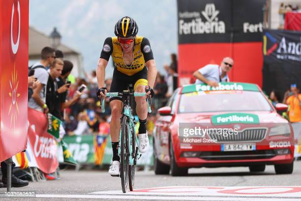 Arrival / Steven Kruijswijk of The Netherlands and Team LottoNL - Jumbo / during the 73rd Tour of Spain 2018, Stage 20 a 97,3km stage from...