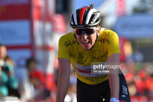 Arrival / Tadej Pogacar of Slovenia and Team UAE - Team Emirates Yellow Leader Jersey during the 45th Volta ao Algarve, Stage 5 a 173,5km stage from...
