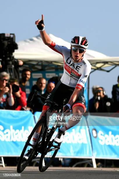 Arrival / Tadej Pogacar of Slovenia and UAE Team Emirates/ Celebration / during the 71st Volta a la Comunitat Valenciana 2020 Stage 2 a 181km stage...