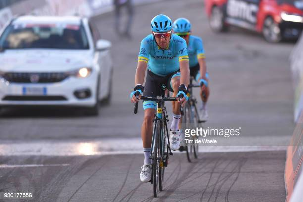 Arrival / Tanel Kangert Estonia / during the 53rd TirrenoAdriatico 2018 Stage 4 a 219km stage from Follonica to Sarnano Sassotetto 1335m on March 10...