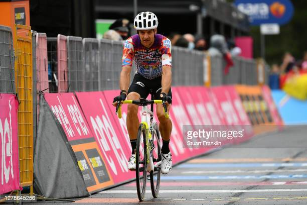 Arrival / Tanel Kangert of Estonia and Team EF Pro Cycling / Etna / during the 103rd Giro d'Italia 2020, Stage Three a 150km stage from Enna to...