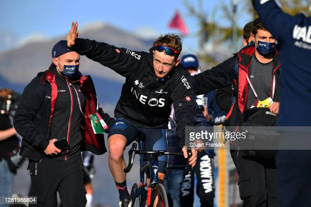 Arrival / Tao Geoghegan Hart of The United Kingdom and Team INEOS Grenadiers / Celebration / during the 103rd Giro d'Italia 2020, Stage 20 a 190km...
