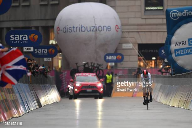 Arrival / Tao Geoghegan Hart of The United Kingdom and Team INEOS Grenadiers White Best Young Rider Jersey / during the 103rd Giro d'Italia 2020,...