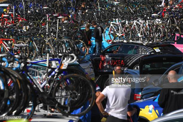 Arrival / Team Bikes / Detail view / during the 106th Tour de France 2019, Stage 6 a 160,5km stage from Mulhouse to La Planche des Belles Filles...