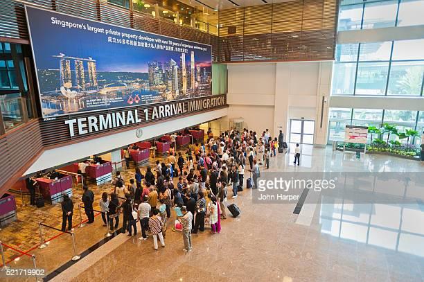 Arrival Terminal at Changi Airport, Singapore