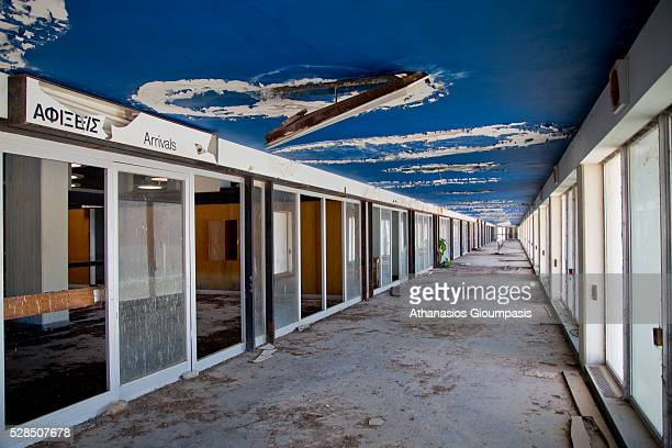 Arrival terminal at the abandoned Nicosia International Airport on April 28, 2016 in Nicosia, Cyprus .On 27 March 1968 a modern new terminal,...
