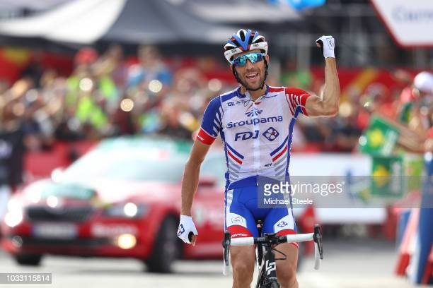 Arrival / Thibaut Pinot of France and Team Groupama FDJ / Celebration / during the 73rd Tour of Spain 2018, Stage 19 a 154,4km stage from Lleida to...