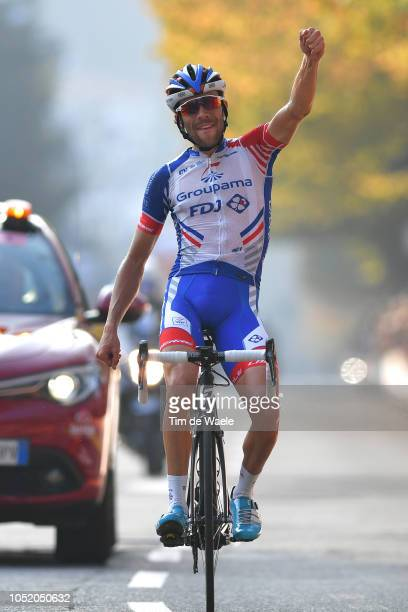 Arrival / Thibaut Pinot of France and Team Groupama - FDJ / Celebration / during the 112th Il Lombardia 2018 a 241km race from Bergamo to Como / IL /...