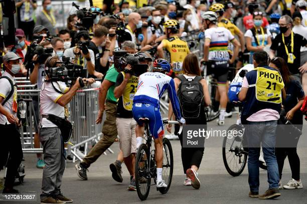 Arrival / Thibaut Pinot of France and Team Groupama - FDJ / Disappointment / Press / Media / during the 107th Tour de France 2020, Stage 8 a 141km...