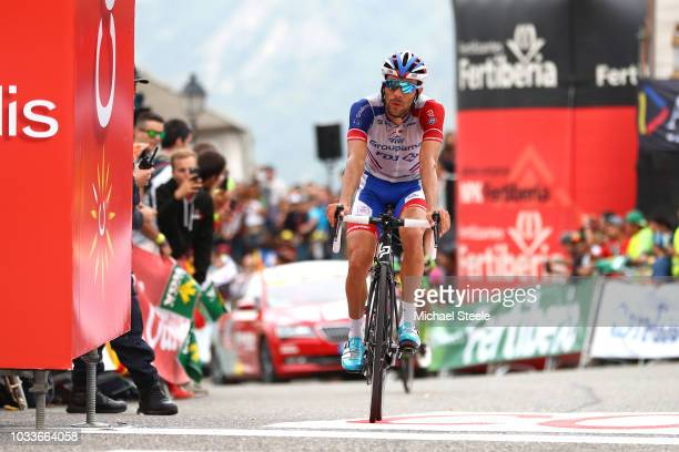 Arrival / Thibaut Pinot of France and Team Groupama FDJ / during the 73rd Tour of Spain 2018, Stage 20 a 97,3km stage from Escaldes-Engordany to Coll...