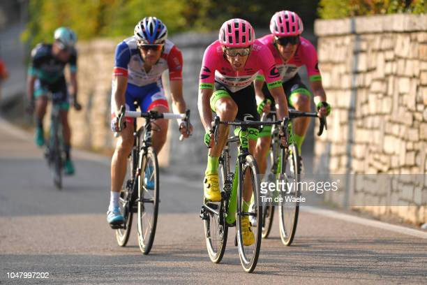 Arrival / Thibaut Pinot of France and Team Groupama FDJ / Michael Woods of Canada and Team EF Education First - Drapac P/B Cannondale / Rigoberto...