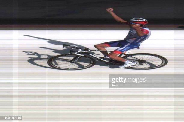 Arrival / Thibaut Pinot of France and Team Groupama-FDJ / Celebration / Photo Finish / during the 106th Tour de France 2019, Stage 14 a 117km stage...