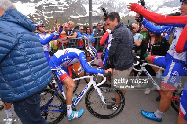 Arrival / Thibaut Pinot of France and Team Groupama-FDJ / Disappointment / during the 101st Tour of Italy 2018, Stage 20 a 214km stage from Susa to...