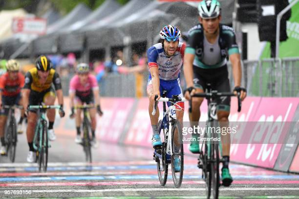 Arrival / Thibaut Pinot of France and Team Groupama-FDJ / Rain / during the 101th Tour of Italy 2018, Stage 8 a 209km stage from Praia a Mare to...