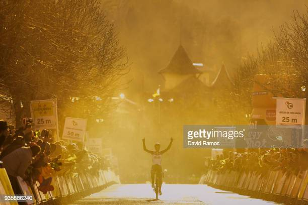 Arrival / Thomas De Gendt and Team Lotto Soudal / Celebration / during the 98th Volta Ciclista a Catalunya 2018, Stage 3 a 153km stage from Sant...