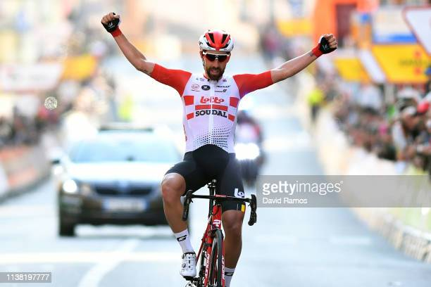 Arrival / Thomas De Gendt of Belgium and Team Lotto Soudal / Celebration / during the Volta Ciclista a Catalunya 2019 Stage 1 a 164km stage from...