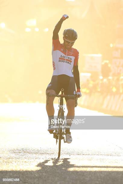 Arrival / Thomas De Gendt of Belgium and Team Lotto Soudal / Celebration / during the 98th Volta Ciclista a Catalunya 2018, Stage 3 a 153km stage...