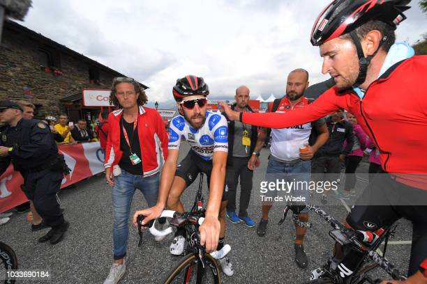 Arrival / Thomas De Gendt of Belgium and Team Lotto Soudal Polka Dot Mountain Jersey / Tiesj Benoot of Belgium and Team Lotto Soudal / Celebration /...