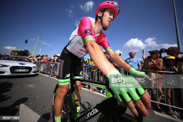 Arrival / Thomas Scully of Australia and Team EF Education First Drapac P/B Cannondale / during the 105th Tour de France 2018 Stage 2 a 1825km stage...