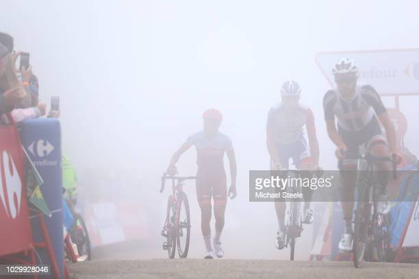 Arrival / Tiago Machado of Portugal and Team Katusha Alpecin / Silhouet / during the 73rd Tour of Spain 2018, Stage 15 a 178,2km stage from Ribera de...