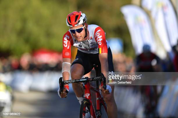 Arrival / Tim Wellens of Belgium and Team Lotto Soudal / Celebration / during the 28th Mallorca Challenge 2019 - Trofeo Lloseta, a 172,4km race form...