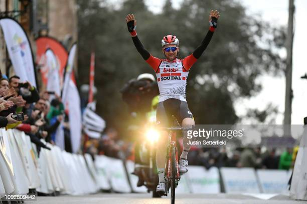 Arrival / Tim Wellens of Belgium and Team Lotto Soudal / Celebration / during the 28th Mallorca Challenge 2019 - Trofeo Serra de Tramuntana, a...
