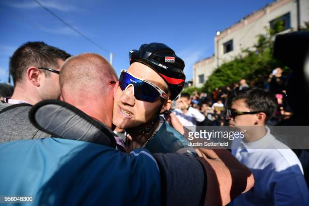 Arrival / Tim Wellens of Belgium and Team Lotto Soudal / Celebration / during the 101th Tour of Italy 2018 Stage 4 a 198km stage from Catania to...