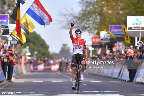 Arrival / Tim Wellens of Belgium and Team Lotto Soudal during the 58th Brabantse Pijl 2018 / La Flèche Brabanconne a 201,9km race from Leuven to...