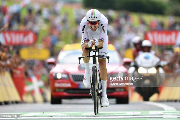 Arrival / Tom Dumoulin of The Netherlands and Team Sunweb / during the 105th Tour de France 2018, Stage 20 a 31km Individual Time Trial stage from...