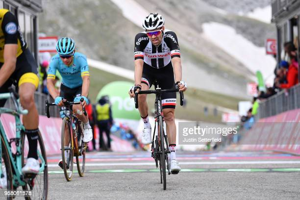 ITALIA CAMPO IMPERATORE ITALY MAY 13 Arrival / Tom Dumoulin of The Netherlands and Team Sunweb / during the 101th Tour of Italy 2018 Stage 9 a 225km...