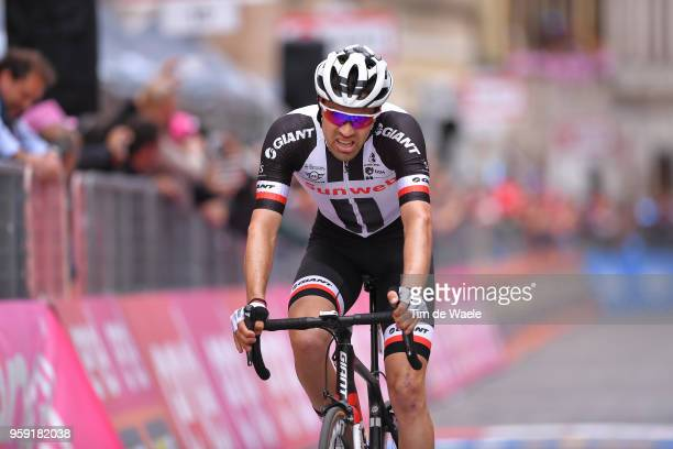 Arrival / Tom Dumoulin of The Netherlands and Team Sunweb / during the 101st Tour of Italy 2018 Stage 11 a 156km stage from Assisi to Osimo 265m /...