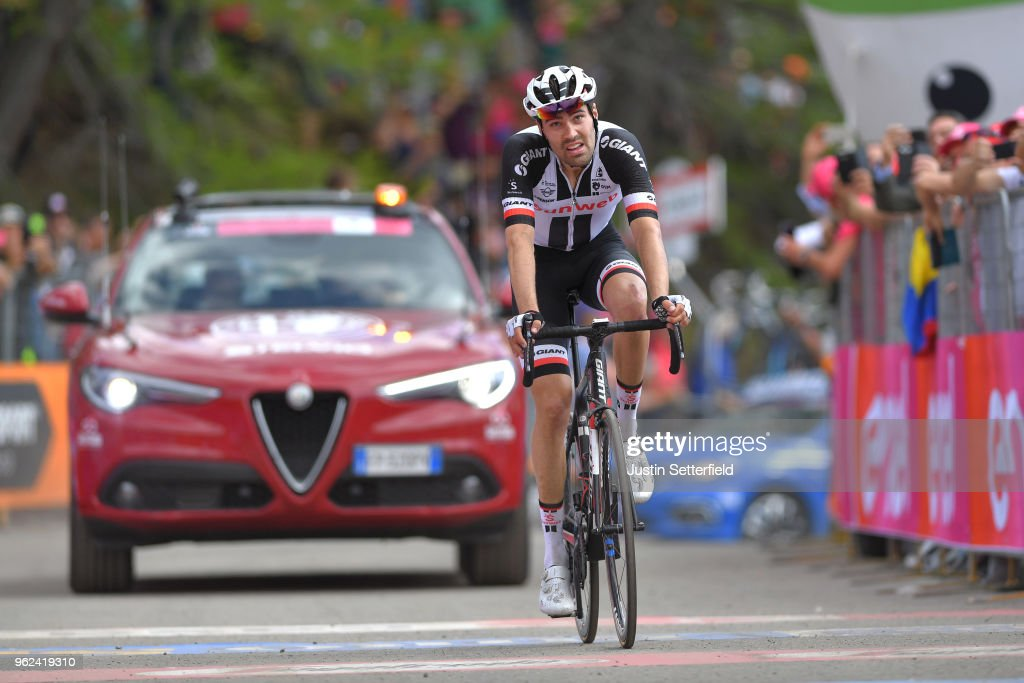 Arrival / Tom Dumoulin of The Netherlands and Team Sunweb / Disappointment / during the 101st Tour of Italy 2018, Stage 19 a 185km stage from Venaria Reale to Bardonecchia - Jafferau 1908m / Giro d'Italia / on May 25, 2018 in Turin, Italy.