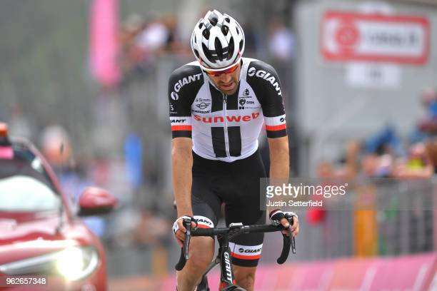 Arrival / Tom Dumoulin of The Netherlands and Team Sunweb / Disappointment / during the 101st Tour of Italy 2018 Stage 20 a 214km stage from Susa to...