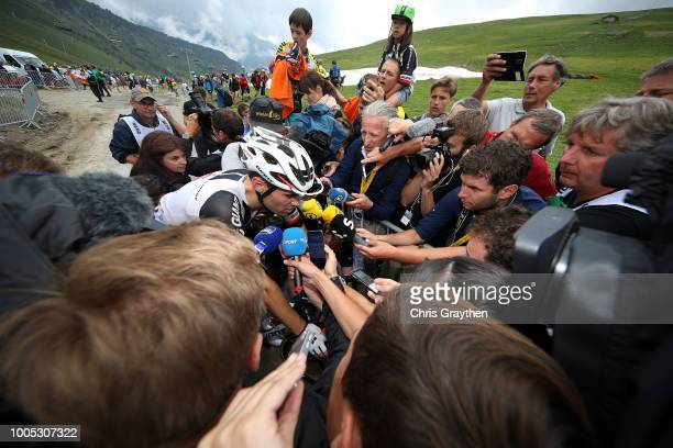 Arrival / Tom Dumoulin of The Netherlands and Team Sunweb / Press Media / during the 105th Tour de France 2018 Stage 17 a 67km stage from...