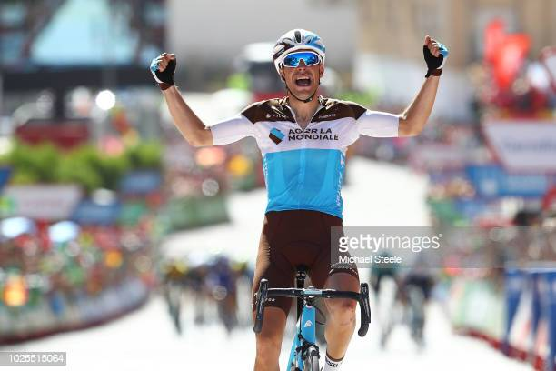 Arrival / Tony Gallopin of France and Team AG2R La Mondiale / Celebration / during the 73rd Tour of Spain 2018, Stage 7 a 185,7km stage from...