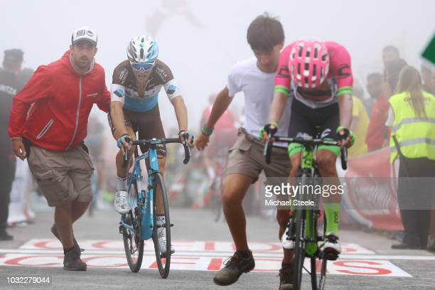 Arrival / Tony Gallopin of France and Team AG2R La Mondiale / during the 73rd Tour of Spain 2018, Stage 17 a 157km stage from Getxo to Alto del...