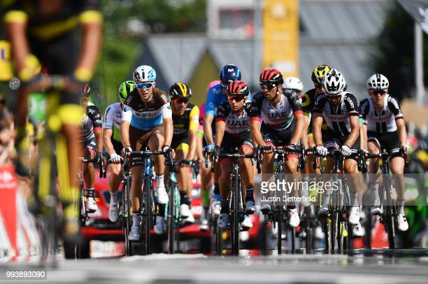 Arrival / Tony Gallopin of France and Team AG2R La Mondiale / Simon Geschke of Germany and Team Sunweb / Peloton / during the 105th Tour de France...