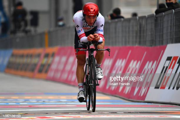 Arrival / Valerio Conti of Italy and UAE Team Emirates / during the 103rd Giro d'Italia 2020, Stage 21 a 15,7km Individual time trial from Cernusco...