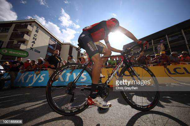 Arrival / Vincenzo Nibali of Italy and Bahrain Merida Pro Team / Disappointment / during the 105th Tour de France 2018 Stage 12 a 1755km stage from...
