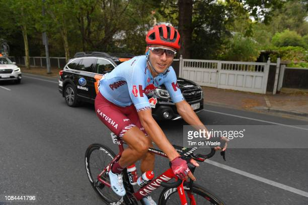Arrival / Vyacheslav Kuznetsov of Rusia and Team Katusha-Alpecin / during the 21st Santos Tour Down Under 2019, Stage 4 a 129,2km stage from Unley to...