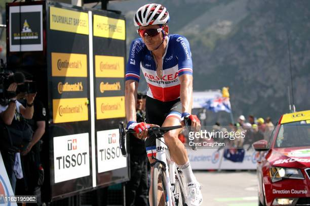 Arrival / Warren Barguil of France and Team Arkea-Samsic / during the 106th Tour de France 2019, Stage 14 a 117km stage from Tarbes to Tourmalet...