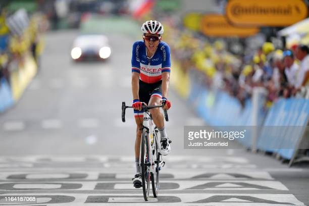 Arrival / Warren Barguil of France and Team Arkea-Samsic / during the 106th Tour de France 2019, Stage 18 a 208km stage from Embrun to Valloire 1419m...