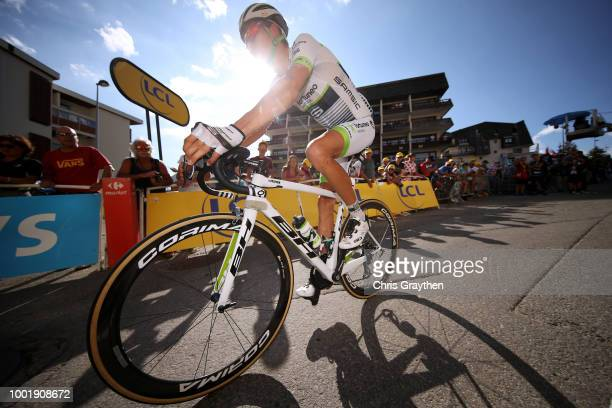 Arrival / Warren Barguil of France and Team Fortuneo Samsic / during the 105th Tour de France 2018 Stage 12 a 1755km stage from BourgSaintMaurice Les...
