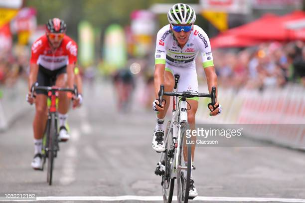 Arrival / Warren Barguil of France and Team Fortuneo Samsic / during the 59th Grand Prix de Wallonie 2018 a 2059km race from Blegny to Citadelle de...