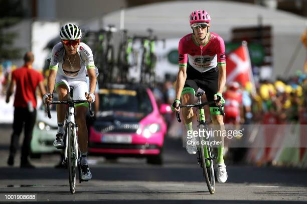 Arrival / Warren Barguil of France and Team Fortuneo Samsic / Pierre Rolland of France and Team EF Education First Drapac P/B Cannondale / during the...