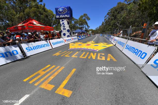 Arrival / Willunga Hill / Landscape / Fans / Public / during the 21st Santos Tour Down Under 2019, Stage 6 a 151,5km stage from McLaren Vale to...