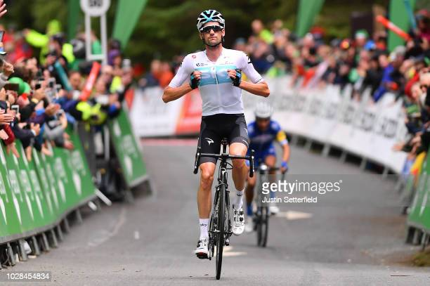 Arrival / Wout Poels of The Netherlands and Team Sky / Celebration / during the 15th Tour of Britain 2018 Stage 6 a 1683km stage from BarrowinFurness...